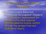 why inquiry for pre service teachers1