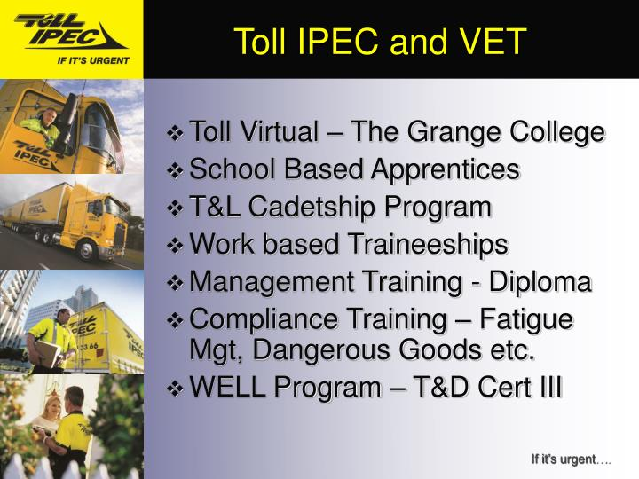 Toll IPEC and VET