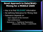 novel approach to data web mining for a mobile user