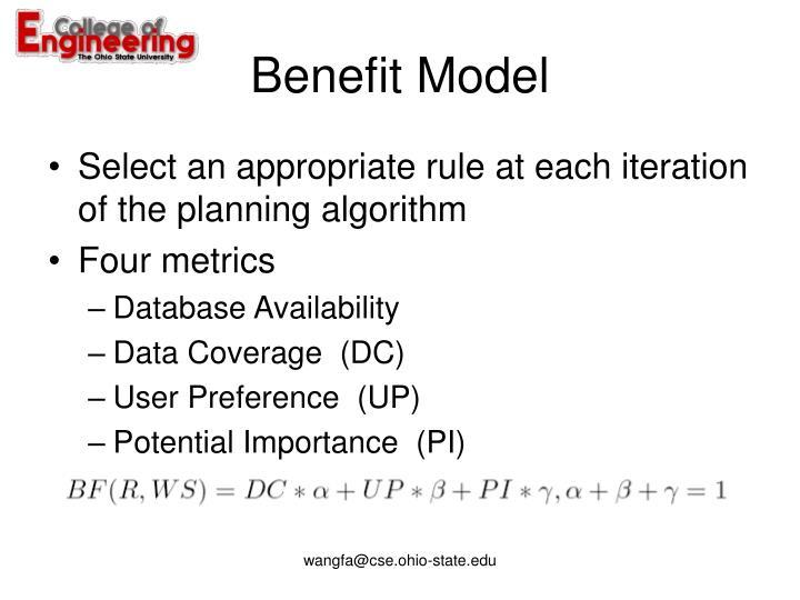 Benefit Model