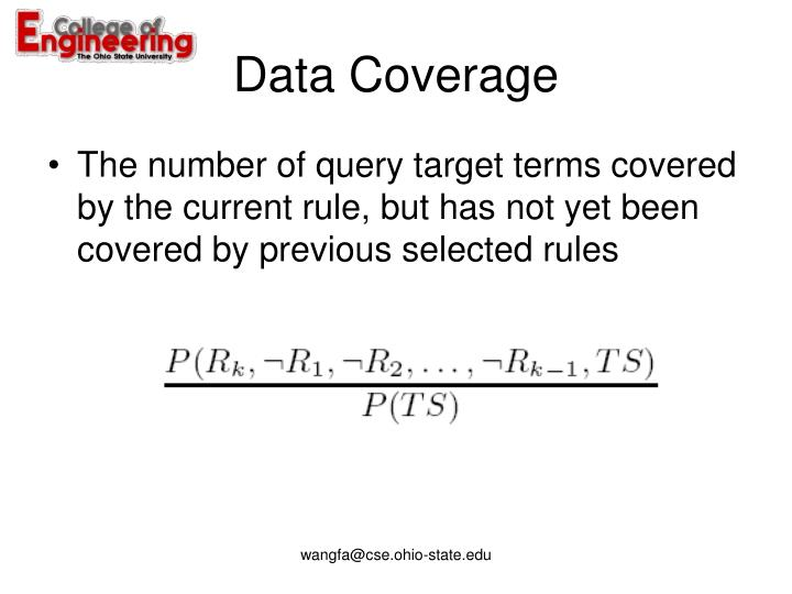 Data Coverage