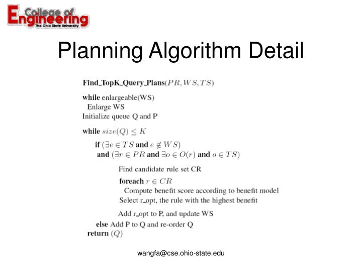 Planning Algorithm Detail