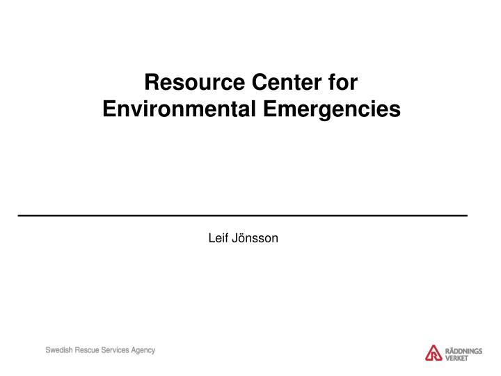 Resource Center for