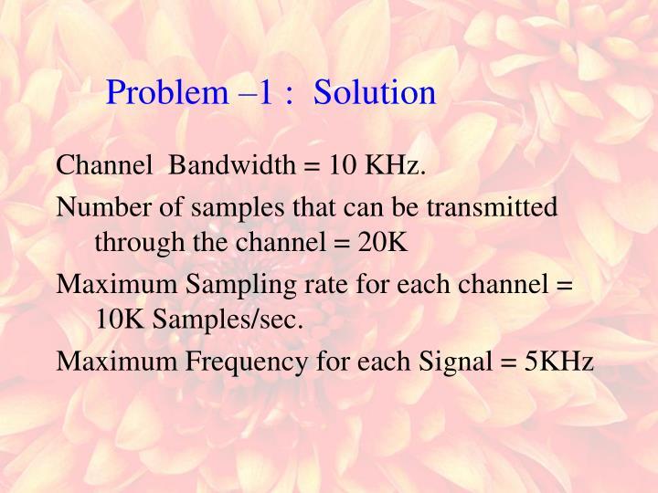 Channel  Bandwidth = 10 KHz.