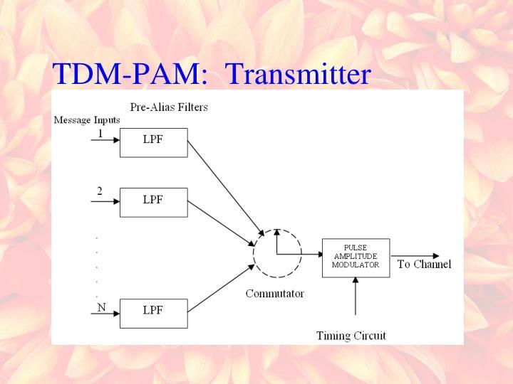 TDM-PAM:  Transmitter