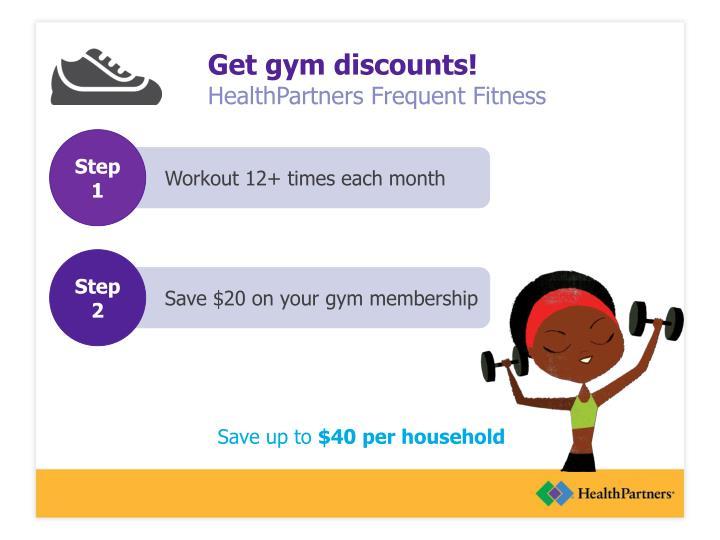 Get gym discounts!