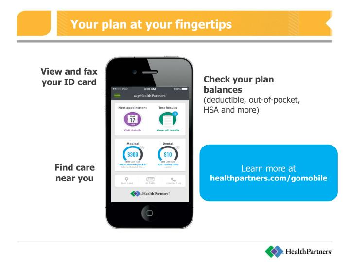 Your plan at your fingertips