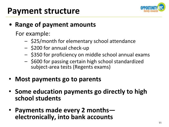 Payment structure