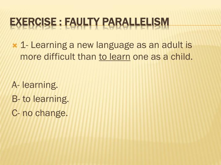 1- Learning
