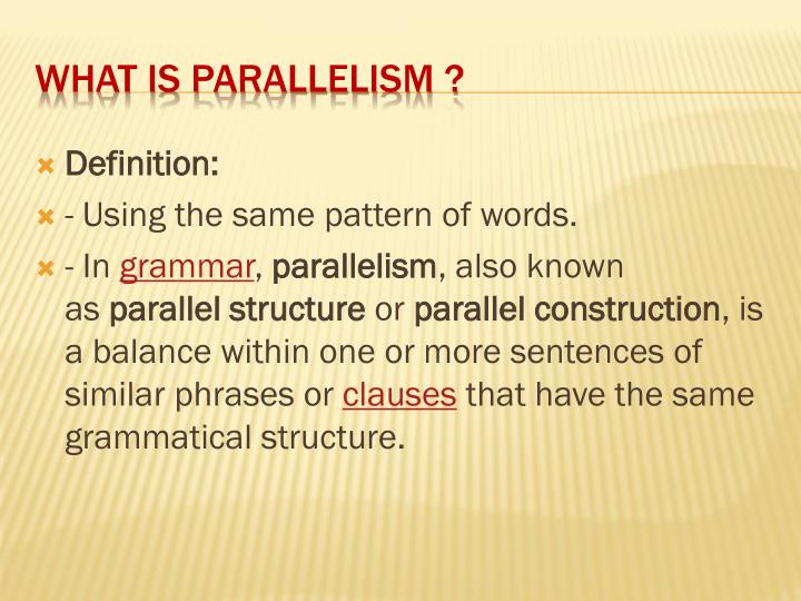 What is parallelism