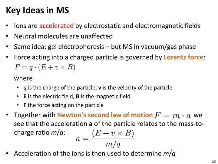 Key Ideas in MS