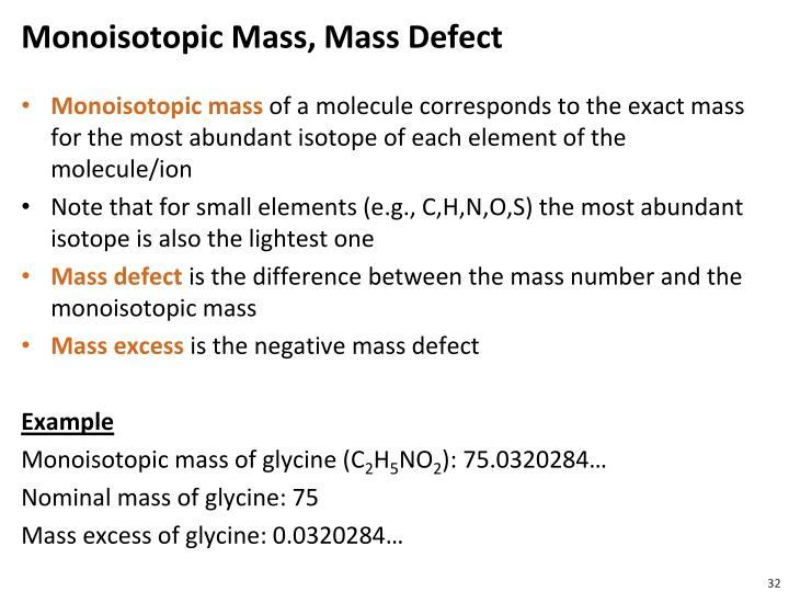 Monoisotopic