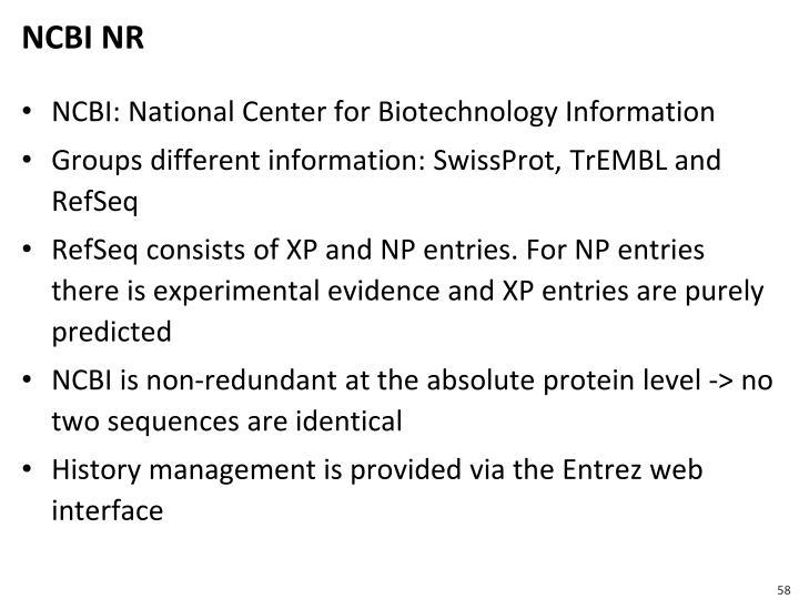 NCBI NR