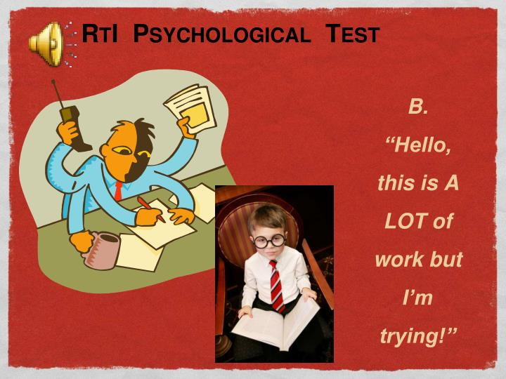 RtI  Psychological  Test