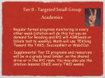 tier ii targeted small group academics1