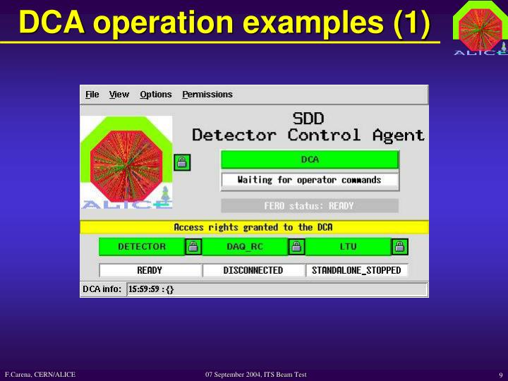 DCA operation examples (1)