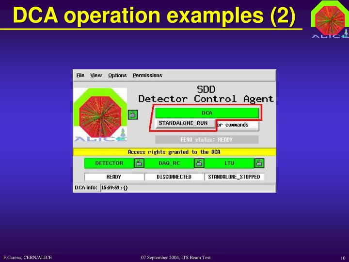 DCA operation examples (2)