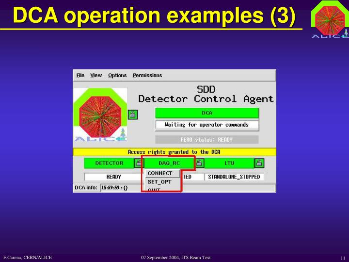 DCA operation examples (3)