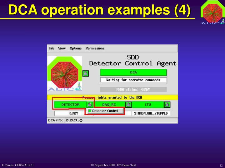 DCA operation examples (4)