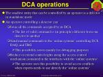 dca operations