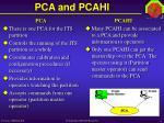 pca and pcahi