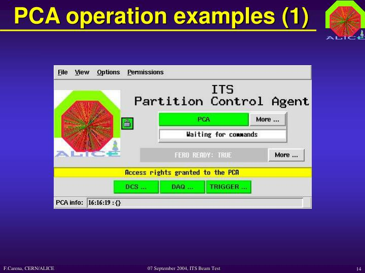 PCA operation examples (1)