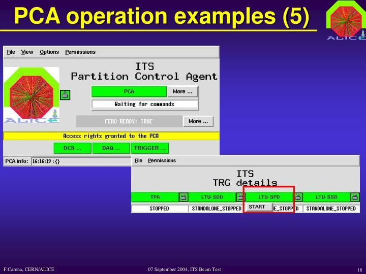 PCA operation examples (5)