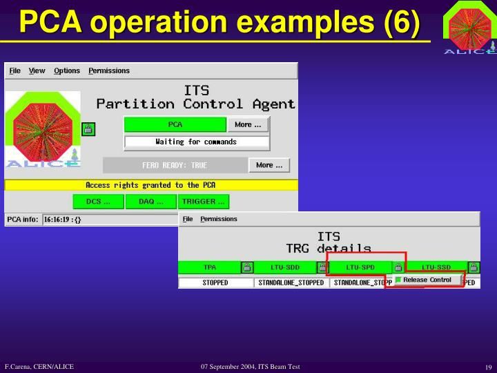 PCA operation examples (6)
