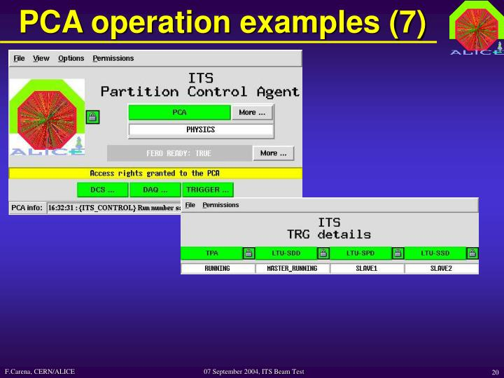 PCA operation examples (7)