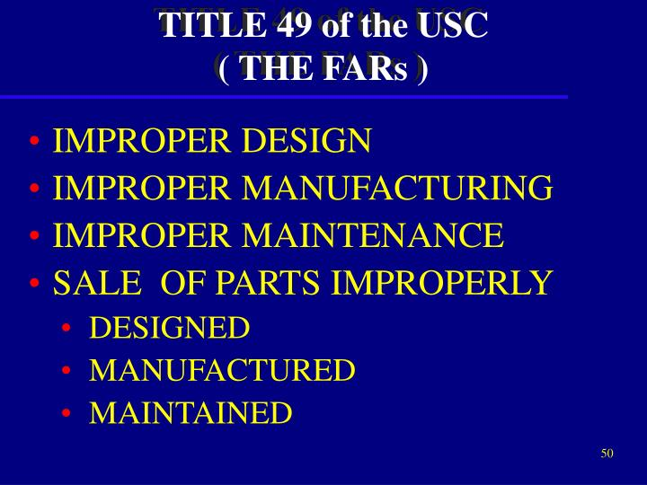 TITLE 49 of the USC