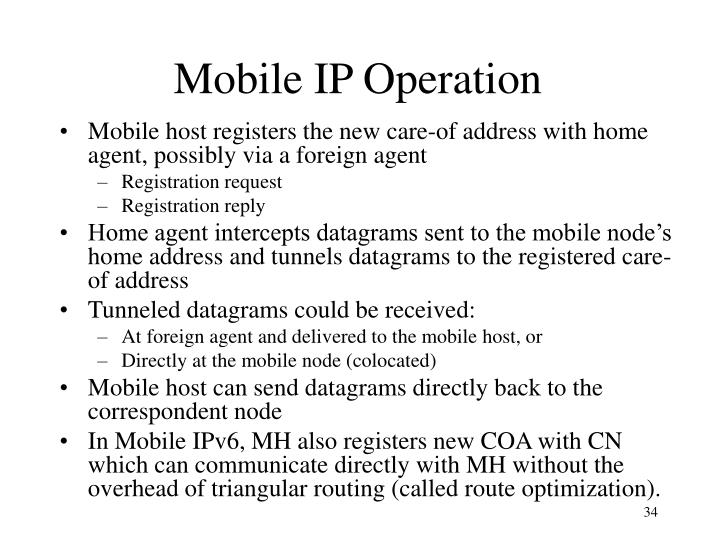 Mobile IP Operation