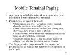 mobile terminal paging