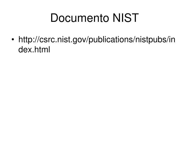 Documento NIST