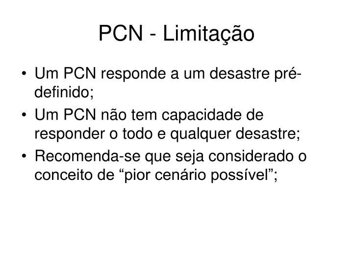 PCN - Limitação