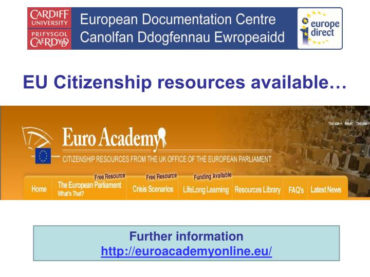 EU Citizenship resources available…