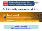 eu citizenship resources available
