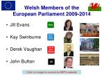welsh members of the european parliament 2009 2014