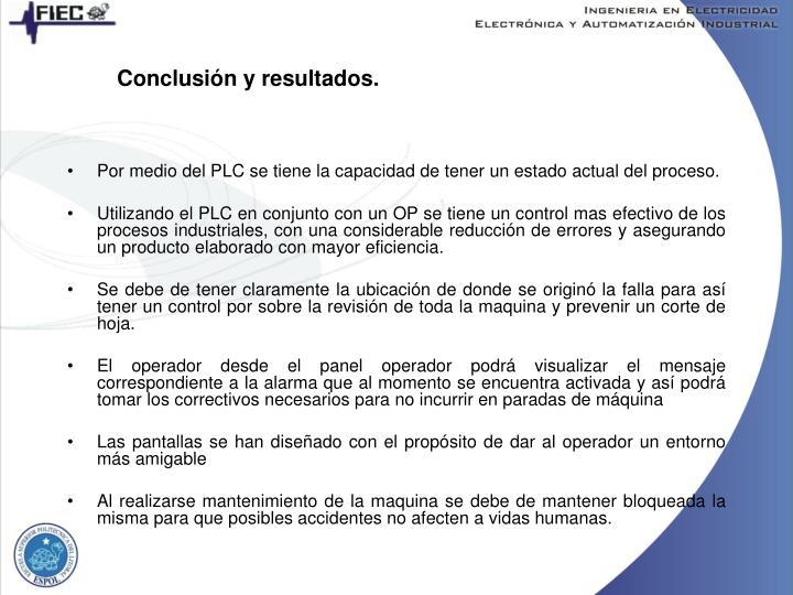 Conclusión y resultados.