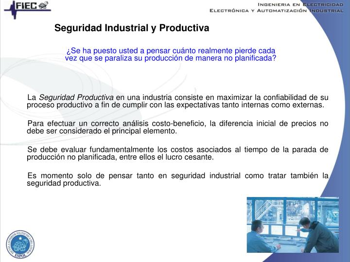 Seguridad Industrial y Productiva