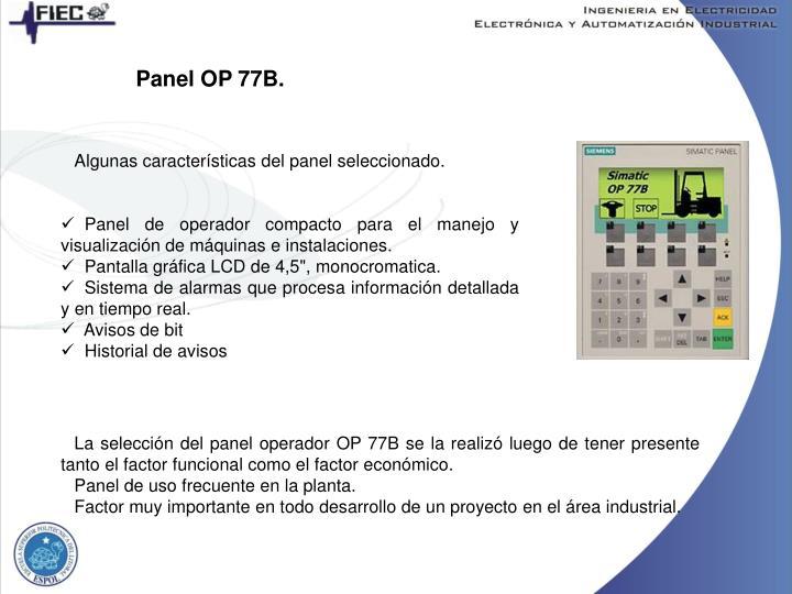 Panel OP 77B.