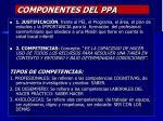 componentes del ppa