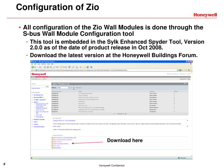 Configuration of Zio