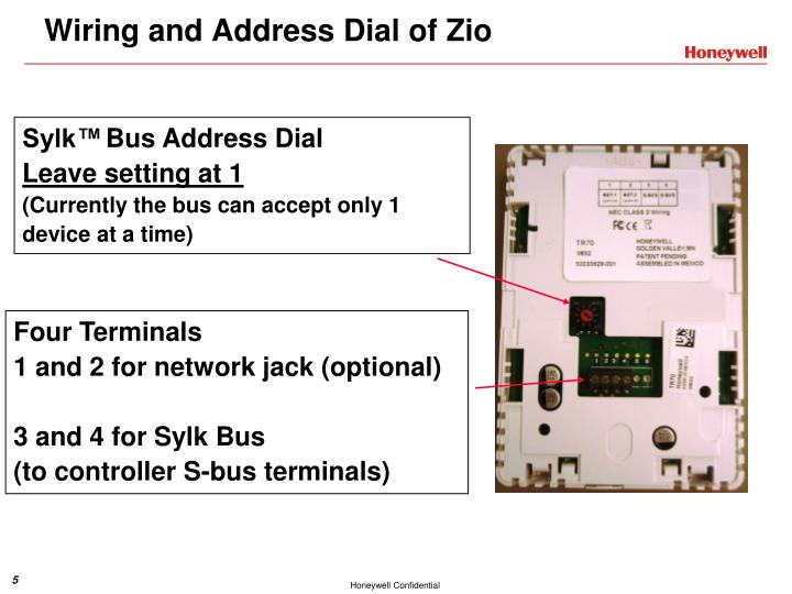 Wiring and Address Dial of Zio