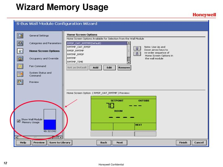 Wizard Memory Usage