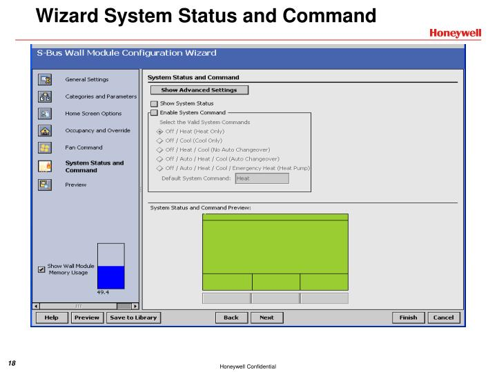 Wizard System Status and Command