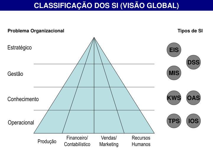 CLASSIFICAÇÃO DOS SI (VISÃO GLOBAL)