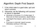 algorithm depth first search
