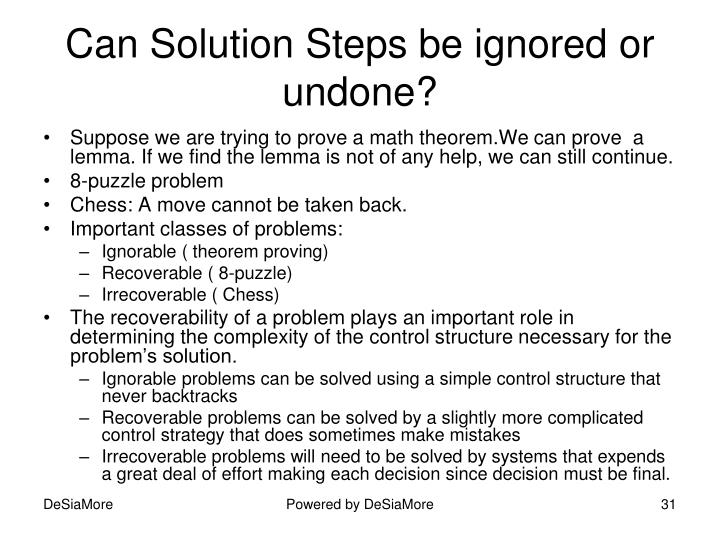 Can Solution Steps be ignored or undone?
