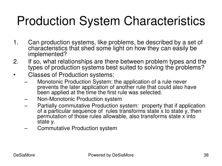 Production System Characteristics