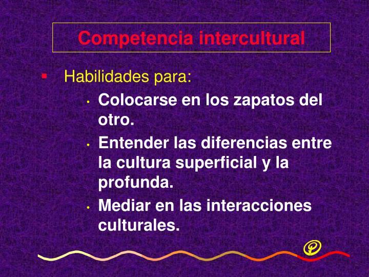 Competencia intercultural